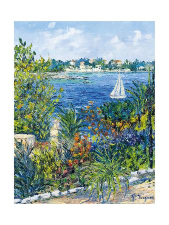 White Boat Giclee Print by Tania Forgione