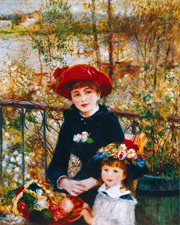 On the Terrace Giclee Print by Pierre-Auguste Renoir