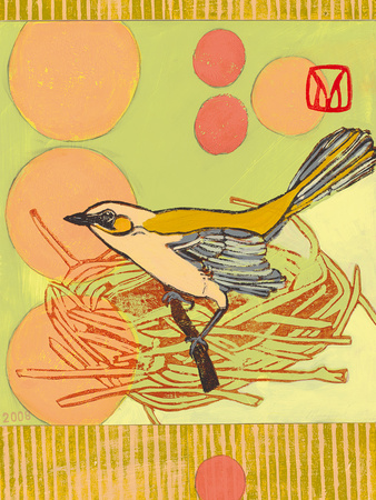 Nested Bird Giclee Print by Meredith Macleod