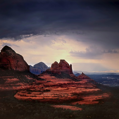 Storm Clouds over Sedona Photographic Print by Jody Miller