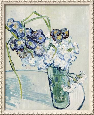 Vase of Carnations, c.1890 Framed Giclee Print by Vincent van Gogh