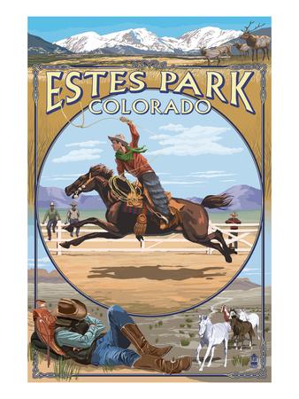 Estes Park, Colorado - Western Scenes Prints by  Lantern Press