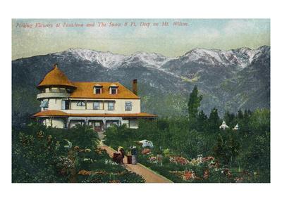 Pasadena, California - Picking Flowers Near Mount Wilson Prints by  Lantern Press