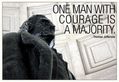 Thomas Jefferson Courage Quote Photo
