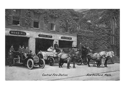 New Bedford, Massachusetts - Central Fire Station Exterior View Prints by  Lantern Press