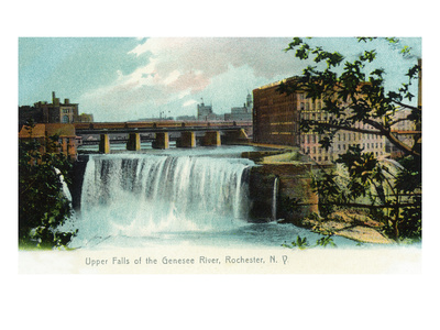 Rochester, New York - Upper Falls of the Genesee River Prints by  Lantern Press