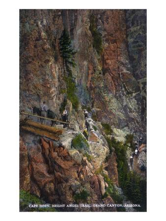 Grand Canyon Nat'l Park, Arizona - Cape Horn, Bright Angel Trail Print by  Lantern Press