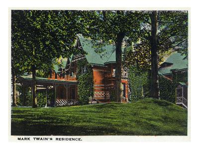 Hartford, Connecticut - Mark Twain's House Prints by  Lantern Press