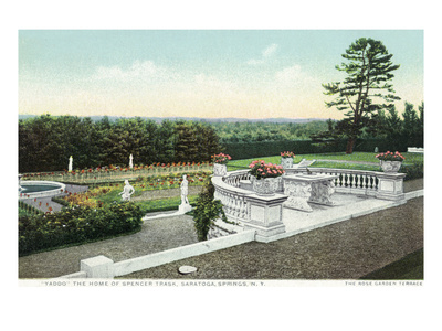 Saratoga Springs, New York - View from the Yaddo Rose Garden Terrace Art by  Lantern Press