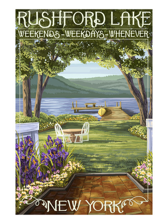 Rushford Lake, New York Scene Posters by  Lantern Press