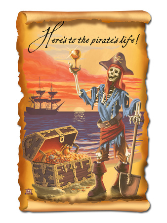 Pirate and Plunder Prints by  Lantern Press