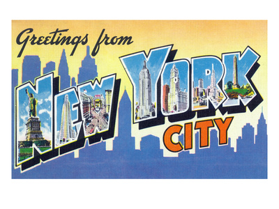 New York, New York - Large Letter Scenes Prints by  Lantern Press