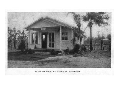 Christmas, Florida - Post Office Building Prints by  Lantern Press