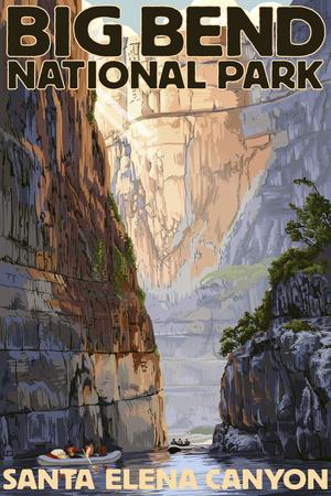 Big Bend National Park, Texas - Santa Elena Canyon Poster by  Lantern Press