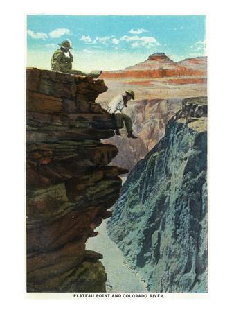 Grand Canyon Nat'l Park, Arizona - Plateau Point and Colorado River Prints by  Lantern Press