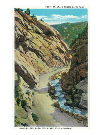 Estes Park, Colorado - Lyons-Allen's Park View of South St. Vrain Canyon Posters by  Lantern Press