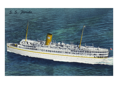 View of Nassau Cruises Liner SS Florida Poster by  Lantern Press