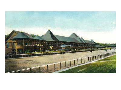 Saratoga Springs, New York - Race Course Grand Stand View Posters by  Lantern Press