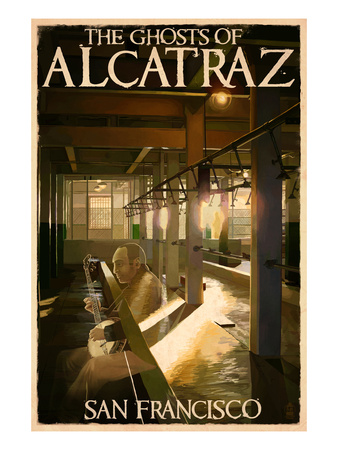 The Ghosts of Alcatraz Island - San Francisco, CA Poster by  Lantern Press