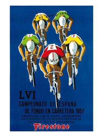Reklame for cykelløb, på italiensk Kunst af  Lantern Press