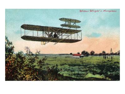 Wilbur Wright's Aeroplane View Art by  Lantern Press