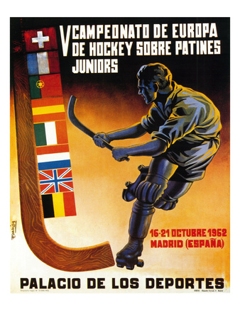 Roller Hockey Promotion Poster by  Lantern Press