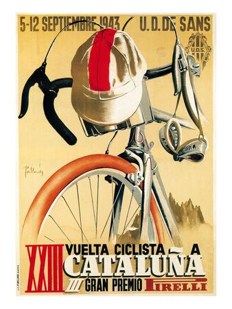 Reklame for cykelløb, på italiensk Plakater af  Lantern Press