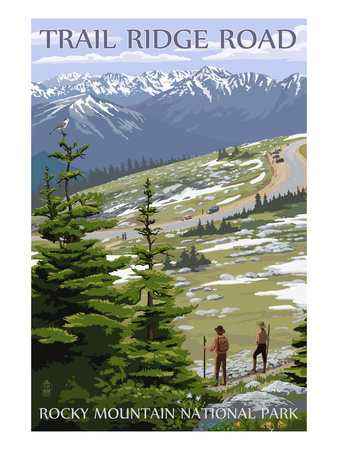 Trail Ridge Road – Rocky Mountain National Park Posters by  Lantern Press