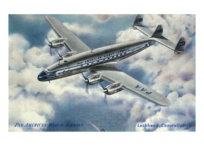 View of Pan American World Airways Lockheed Constellation Plane Prints by  Lantern Press