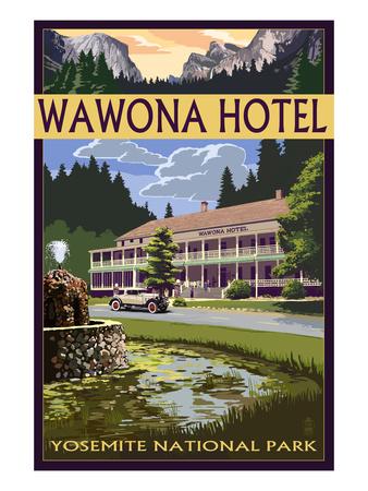 Wawona Hotel - Yosemite National Park - California Prints by  Lantern Press