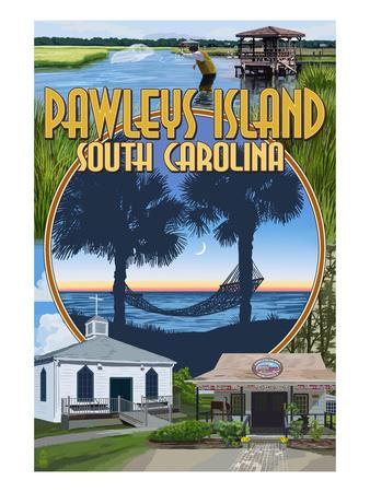 Pawleys Island, South Carolina - Montage Posters by  Lantern Press