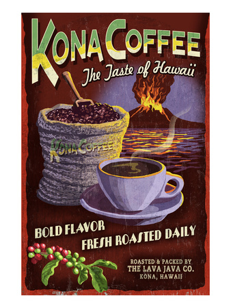 Kona Coffee - Hawaii Poster by  Lantern Press