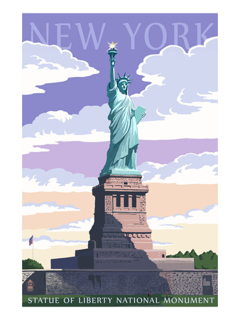 Statue of Liberty National Monument - New York City, NY Poster by  Lantern Press