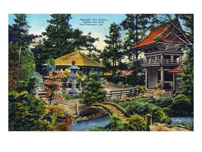 San Francisco, California - Golden Gate Park Japanese Tea Garden Posters by  Lantern Press