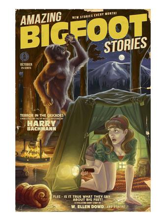 Amazing Bigfoot Stories Prints by  Lantern Press