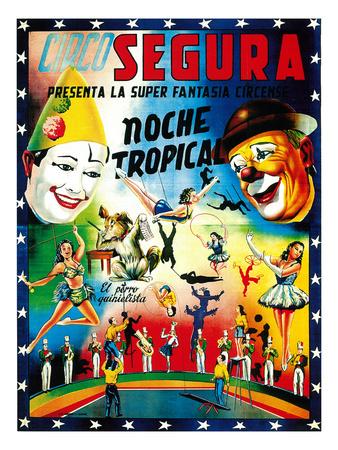 Circo Segura Circus Prints by  Lantern Press