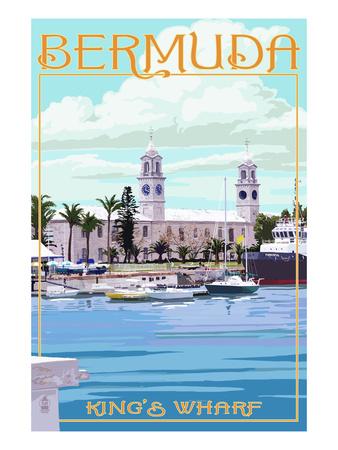 Bermuda - King's Wharf Posters by  Lantern Press