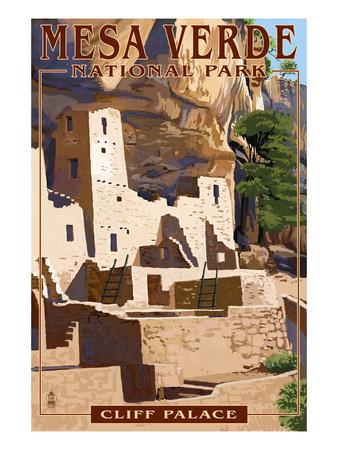 Mesa Verde National Park, Colorado - Cliff Palace Arte por  Lantern Press