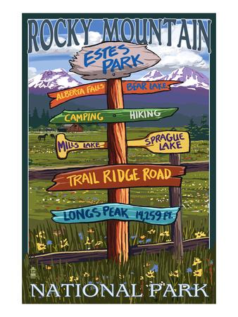 Estes Park, Colorado - Sign Destinations No.2 Prints by  Lantern Press