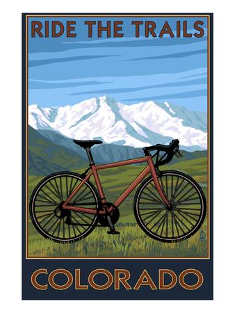 Mountain Bike - Colorado Posters by  Lantern Press