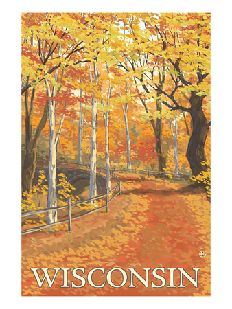 Fall Colors Scene - Wisconsin Posters by  Lantern Press