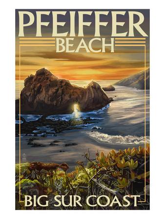 Pfeiffer Beach, California Posters by  Lantern Press