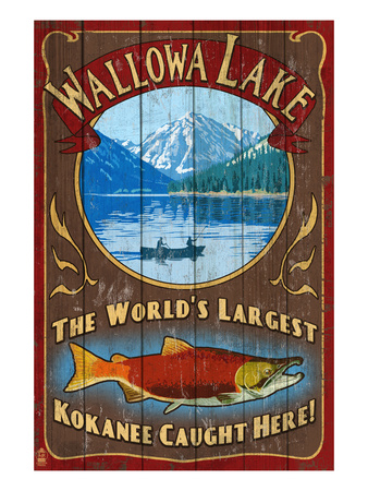 Wallowa Lake, Oregon Prints by  Lantern Press