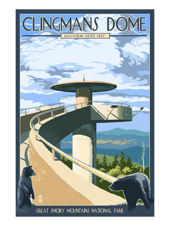 Clingmans Dome - Great Smoky Mountains National Park, TN Prints by  Lantern Press