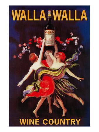 Women Dancing with Wine - Walla Walla, Washington Posters by  Lantern Press