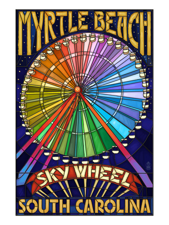 Myrtle Beach, South Carolina - Skywheel Posters by  Lantern Press