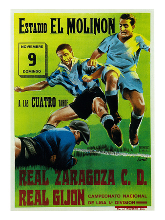 Futbol Promotion - Estadio El Molinon Print by  Lantern Press