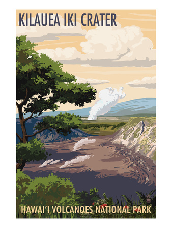 Kilauea Iki Crater, Hawaii Volcanoes National Park Art by  Lantern Press