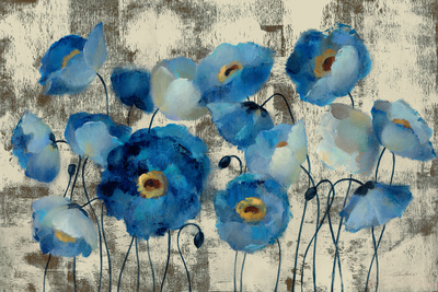 Aquamarine Floral Poster by Silvia Vassileva