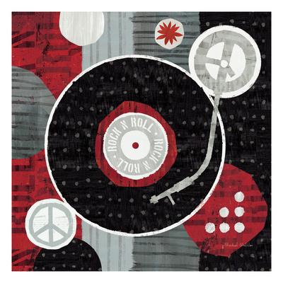 Rock 'n Roll Album Premium Giclee Print by Michael Mullan